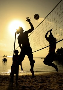 Yellow - beach volleyball