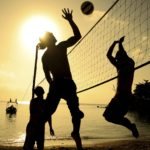 Yellow-beach-volleyball